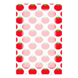Red Tomato Pattern. Customised Stationery