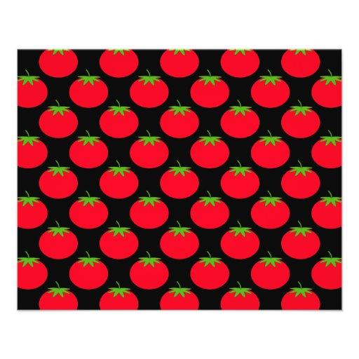 Red Tomato Pattern. Custom Flyer