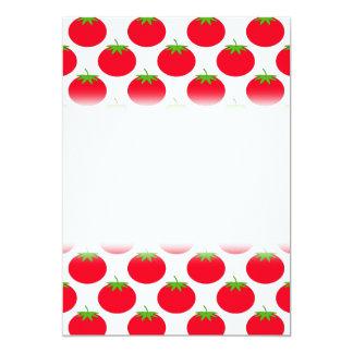 "Red Tomato Pattern. 5"" X 7"" Invitation Card"