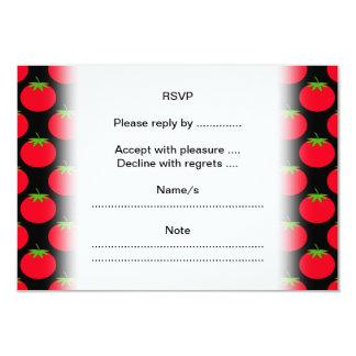 "Red Tomato Pattern. 3.5"" X 5"" Invitation Card"