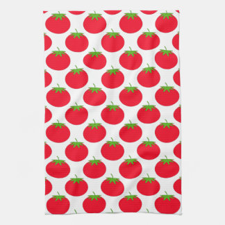 Red Tomato Pattern. Kitchen Towels