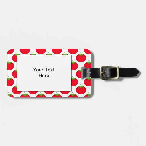 Red Tomato Pattern. Luggage Tag