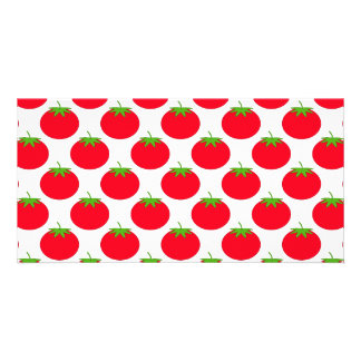 Red Tomato Pattern. Photo Greeting Card