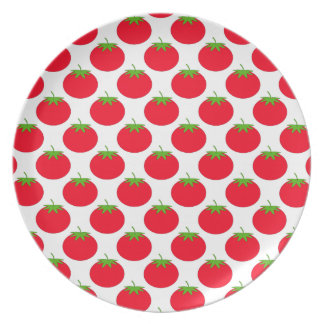 Red Tomato Pattern. Party Plates