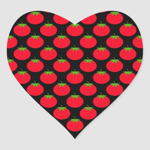 Red Tomato Pattern. Stickers