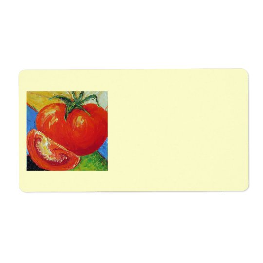 Red Tomato Shipping Label