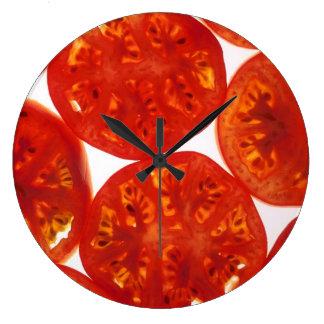 Red Tomato Slices Wallclock