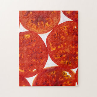 Red Tomato Slices Jigsaw Puzzles