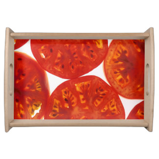 Red Tomato Slices Serving Tray
