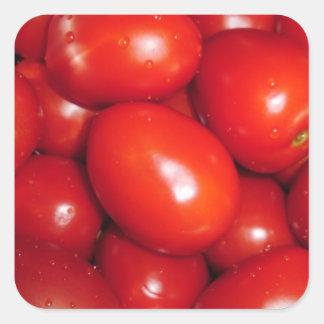 Red Tomato Square Sticker