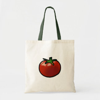 Red tomato budget tote bag