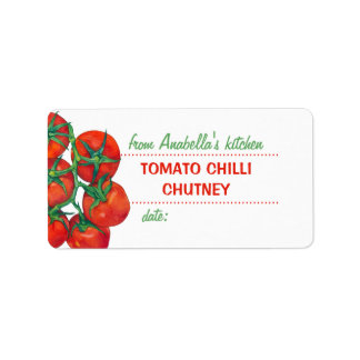Red Tomatoes 2 Kitchen Preserves Label Address Label