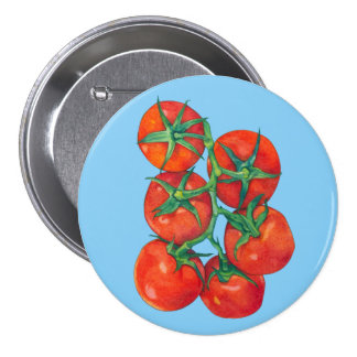 Red Tomatoes blue Button