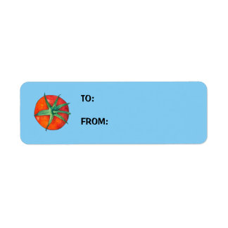 Red Tomatoes blue Small Gift Tag Return Address Label