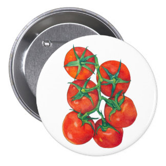 Red Tomatoes Button