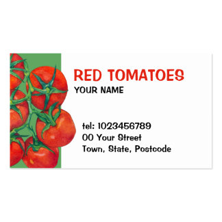 Red Tomatoes green Business Card