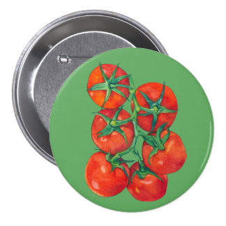 Red Tomatoes green Button