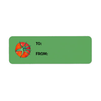 Red Tomatoes green Small Gift Tag Return Address Label