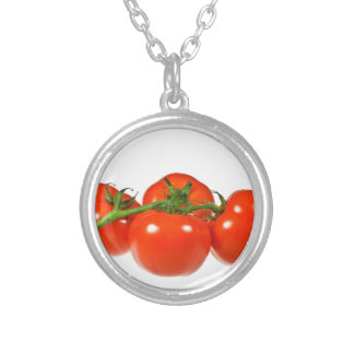 Red tomatoes personalized necklace