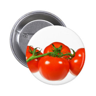 Red tomatoes pinback buttons