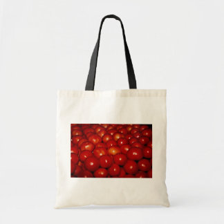 Red tomatoes texture canvas bags