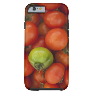 red tomatoes with one green one for sale at the tough iPhone 6 case