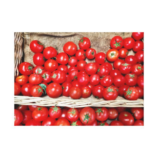 Red Tomatos Wrapped Canvas
