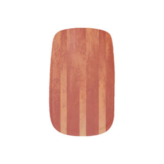 Red Toned Ombre Striped Minx Nail Art