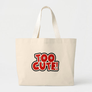 Red Too Cute Tote Bags