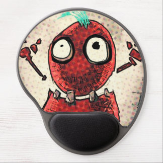 Red Toon Gel Mouse Pad