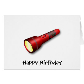 Red Torch Flashlight Card