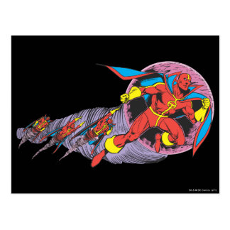 Red Tornado In Wind Motion Postcard