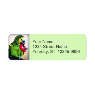 Red Toy Return Address Label