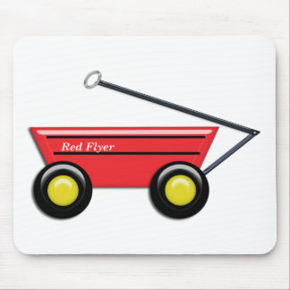 Red Toy Wagon Mouse Pad