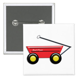 Red Toy Wagon Pinback Button
