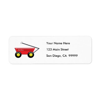 Red Toy Wagon Return Address Label