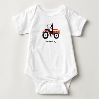 Red Tractor Design Apparel Baby Bodysuit