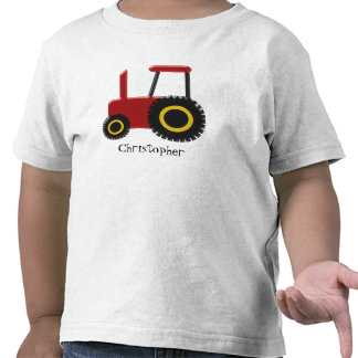 Red Tractor Just Add Name Tees