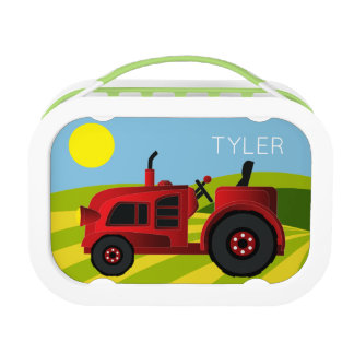Red Tractor Lunch Box