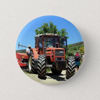 Red Tractor on El Camino, Spain 6 Cm Round Badge