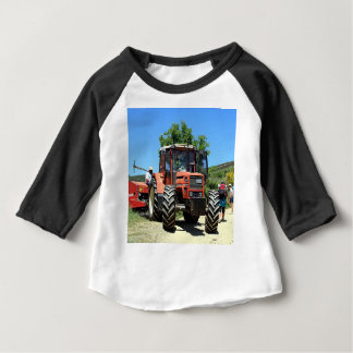 Red Tractor on El Camino, Spain Baby T-Shirt