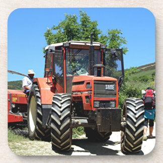 Red Tractor on El Camino, Spain Coaster