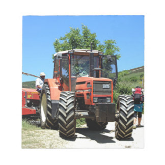 Red Tractor on El Camino, Spain Notepad