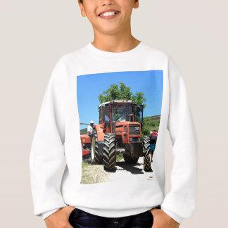Red Tractor on El Camino, Spain Sweatshirt