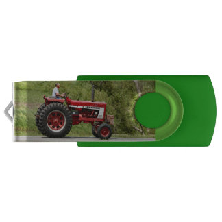 Red Tractor USB Flash Drive