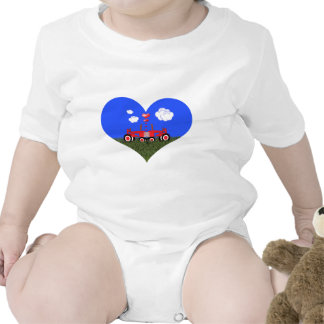 Red Tractor Valentine's Day Shirt
