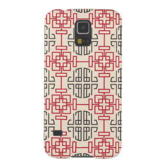 Red Traditional Geometric Chinese Decorative Patte Galaxy S5 Case