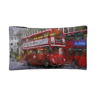 Red Trafalgar Square London Double-decker Bus Cosmetic Bags