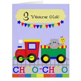 "Red Train (8.5"" x 11"") Big Greeting Card"