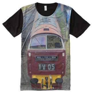 Red Train All-Over Print T-Shirt